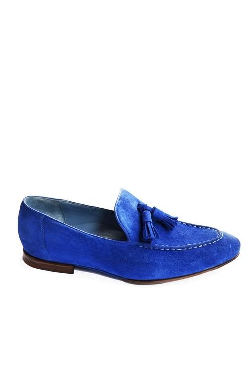 Suede loafer blue